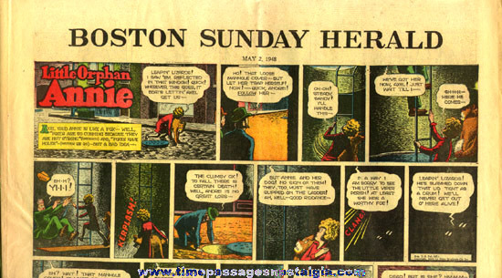 May 2nd, 1948 Boston Sunday Herald Newspaper Color Comic / Cartoon Section