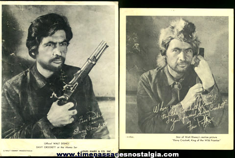 (2) Different Davy Crockett / Fess Parker Pictures