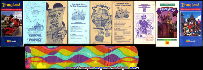 (10) Different Disneyland Souvenir Paper Items