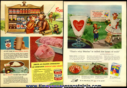 (14) Different Old Borden / Elsie Cow Advertisements