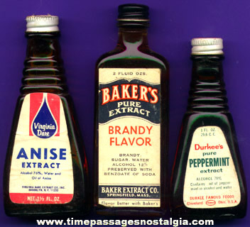 (3) Old Extract Flavor Bottles