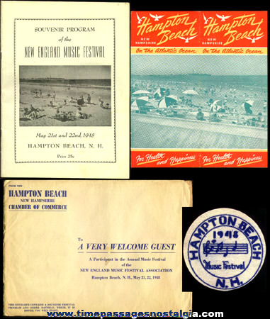 (4) 1948 Hampton Beach, N.H. Music Festival Souvenir Items