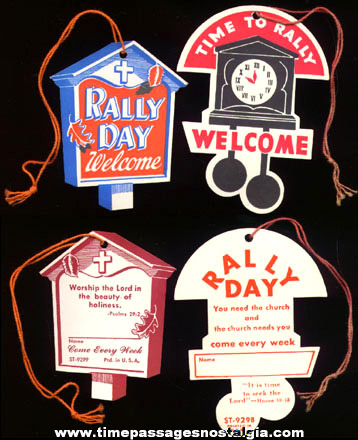 (41) Old Unused Die Cut RALLY DAY Tags