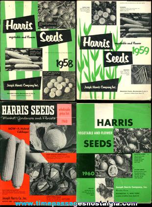 (4) Old Harris Seed Catalogs