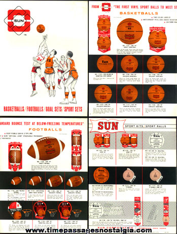 1966 SUN Corporation Sports Balls Buyers Sheet