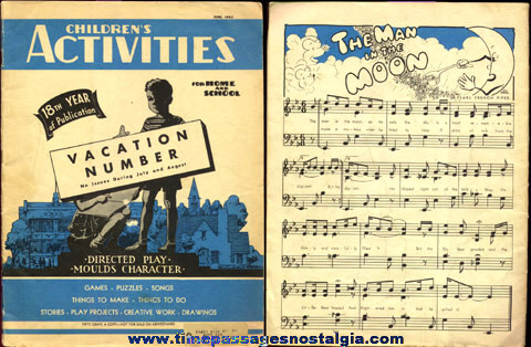 June, 1952 ''CHILDREN'S ACTIVITIES'' Magazine