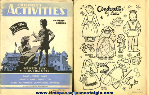 January, 1953 ''CHILDREN'S ACTIVITIES'' Magazine