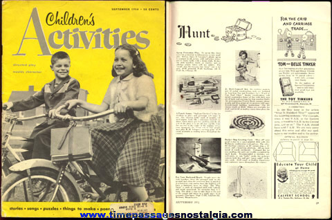 September, 1954 ''CHILDREN'S ACTIVITIES'' Magazine