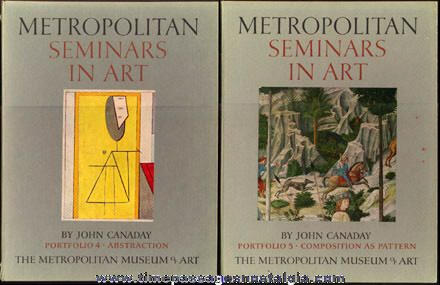 "(4) ©1958 ""Metropolitan Seminars In Art"" Books With (38) Color Plate Art Prints"