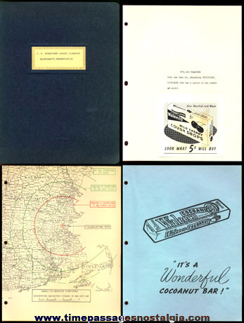 1959 (18) Page F.B. WASHBURN CANDY COMPANY Salesman's Presentation Folder