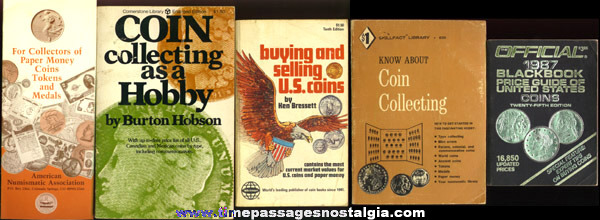 (4) Old Coin Books & Brochure
