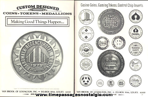 (8) 1979 - 1982 Coin, Token, Medallion Company Sales Items
