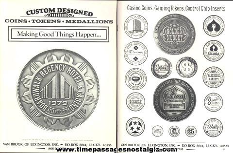 (8) 1979 - 1982 Coin, Token, Medallion Company Sales Items