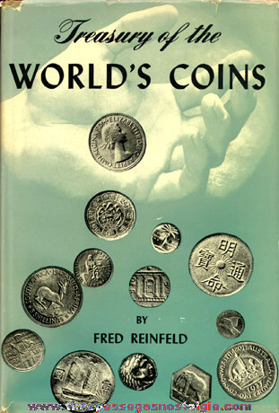 "©1953 Hard Back Book ""TREASURY OF THE WORLD'S COINS"""