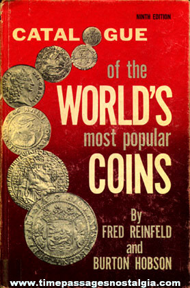 "�1976 Hard Back Book ""CATALOGUE OF THE WORLD'S MOST POPULAR COINS"""