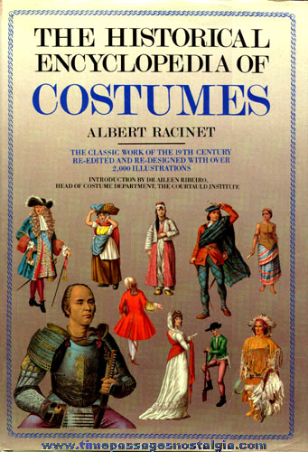 "©1988 Oversize Hard Back Book ""THE HISTORICAL ENCYCLOPEDIA OF COSTUMES"""