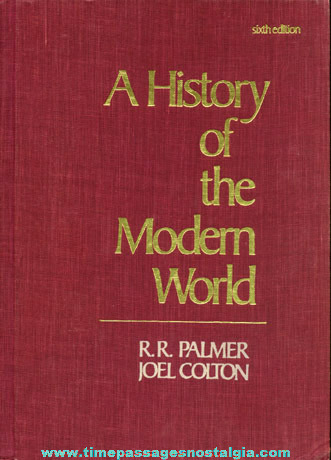 "©1984 Hard Back Book ""A HISTORY OF THE MODERN WORLD"""