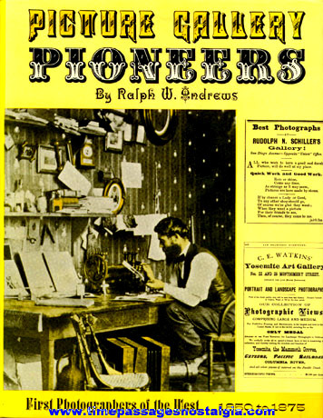 """©1969 Photography Book """"PICTURE GALLERY PIONEERS 1850 - 1875"""""""