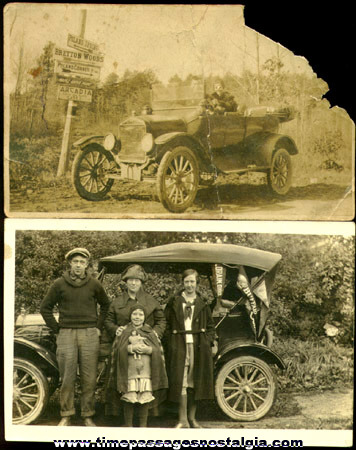 (2) Old Unusual Automobile Photographs