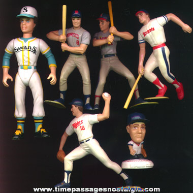 (6) Different Baseball Player Figures