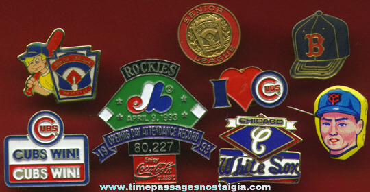 (8) Different Baseball Pins