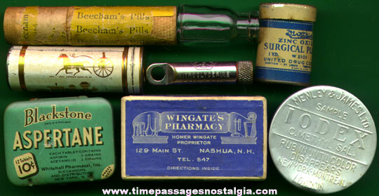 (8) Small Old Medicine / Drug Containers