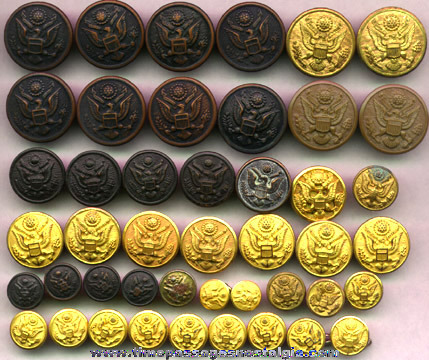 (45) United States Army Uniform Buttons