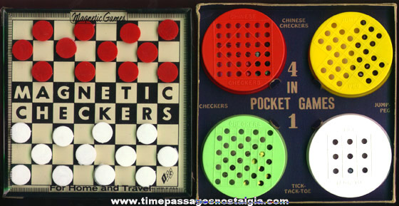 (2) Old Travel Game Sets
