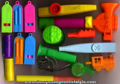 (15) Small Plastic Whistles