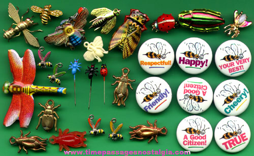 (30) Insect Pins And Charms