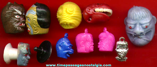 (10) Different Small Gum Ball Machine Prize Monster Items