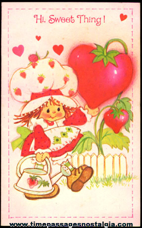 (2) Strawberry Shortcake Cartoon Character Items