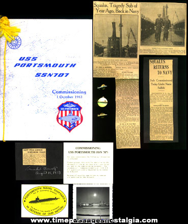 (10) United States Navy Submarine Items