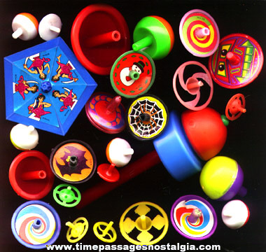 (26) Plastic Spinning Toy Tops