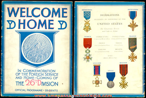 �1919 Official Welcome Home Program Book For The 26th Yankee Division