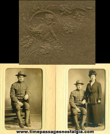 (2) 1917 - World War I Soldier Photographs With Folders
