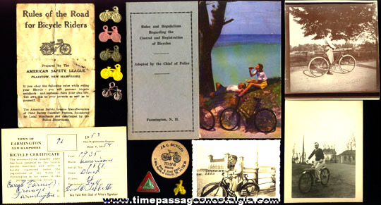 (15) Old Bicycle Related Items