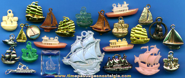 (25) Ship And Boat Charms