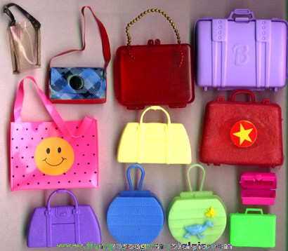 (12) Barbie & Other Doll Purses & Suitcases
