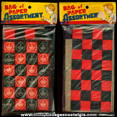 Old Bagged Novelty Type Unused Checkers Game