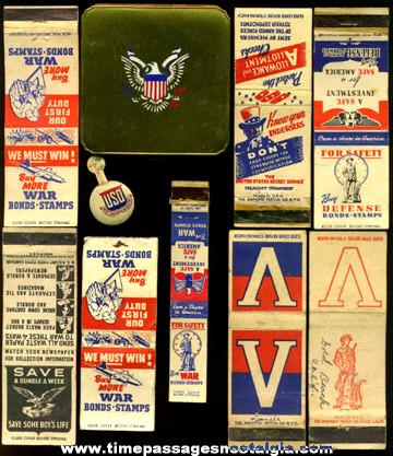 (10) World War II Homefront Items