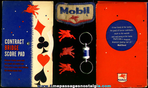 (7) Small Mobil Gasoline Advertising Items