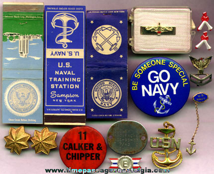 (15) Small United States Navy Items
