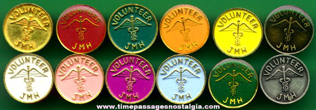 (12) Matching Nursing Volunteer Pins