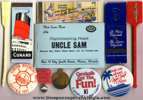 (12) Different Small Cruise Line Ship Advertising Items