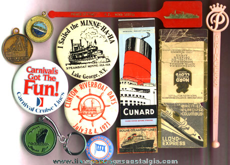 (12) Different Small Cruise Line / Ship Advertising Items