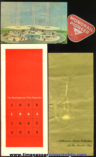 (4) 1964 -1965 New York World's Fair Souvenir Items
