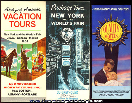 (3) 1964 -1965 New York World's Fair Paper Souvenir Items