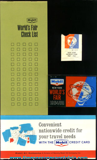 (6) 1964 -1965 New York World's Fair Souvenir Items