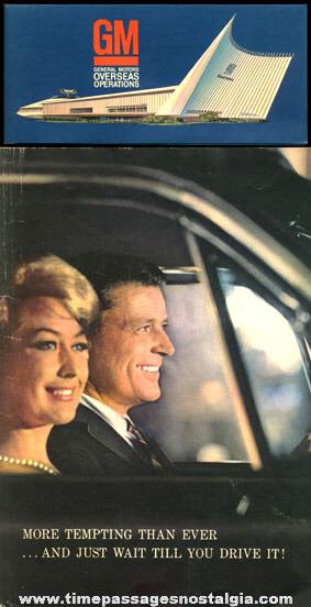 (2) 1964 -1965 New York World's Fair General Motors Paper Souvenir Items